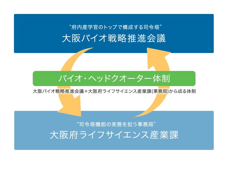 バイオ・ヘッドクオーター体制の概略図です。